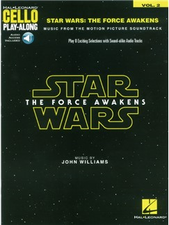 Hal Leonard Cello Play-Along: Star Wars - The Force Awakens (Book/Online Audio) Books | Cello