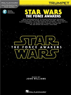 Hal Leonard Instrumental Play-Along: Star Wars - The Force Awakens (Trumpet) (Book/Online Audio) Books | Trumpet