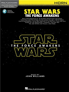 Hal Leonard Instrumental Play-Along: Star Wars - The Force Awakens (Horn) (Book/Online Audio) Books | French Horn