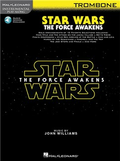 Hal Leonard Instrumental Play-Along: Star Wars - The Force Awakens (Trombone) (Book/Online Audio) Books | Trombone