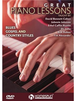 Great Piano Lessons: Blues, Gospel And Country Styles DVDs / Videos | Piano