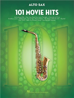 101 Movie Hits For Alto Saxophone Buch | Alt-Saxophon