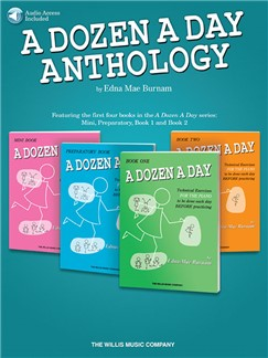 Edna Mae Burnam: A Dozen A Day Anthology (Book/Online Audio) Books | Piano