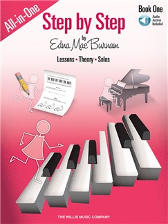Edna Mae Burnam: Step By Step All-In-One Edition – Book 1 (Book/Online Audio) Books and Digital Audio | Piano