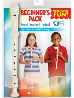 Recorder Fun! Beginner's Pack (Instrument/Book/Online Audio) Books, Digital Audio and Instruments | Soprano (Descant) Recorder