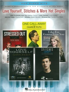 Pop Piano Hits: Love Yourself, Stitches & More Hot Singles Books | Piano