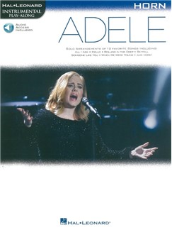 Hal Leonard Instrumental Play-Along: Adele - Horn (Book/Online Audio) Books | French Horn