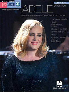 Pro Vocal Women's Edition Volume 56: Adele (Book/Online Audio) Books and Digital Audio | Voice