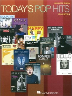 Today's Pop Hits: 3rd Edition - Big Note Piano Books | Piano