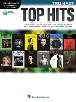 Hal Leonard Instrumental Play-Along: Top Hits - Trumpet (Book/Online Audio) Books | Trumpet