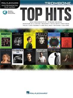 Hal Leonard Instrumental Play-Along: Top Hits - Trombone (Book/Online Audio) Books | Trombone