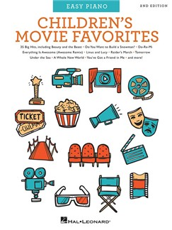 Children's Movie Favorites – 2nd Edition (Easy Piano) Books | Easy Piano, Piano