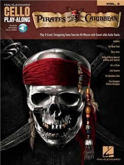 Cello Play-Along Volume 3: Pirates Of The Caribbean (Book/Online Audio) Books and Digital Audio | Cello