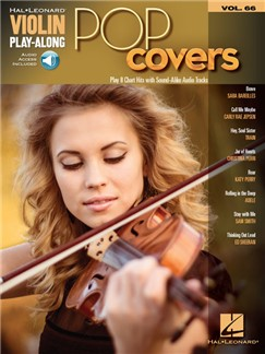 Violin Play-Along Volume 66: Pop Covers (Book/Online Audio) Books and Digital Audio | Violin
