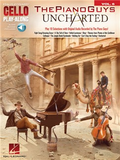 Cello Play-Along Volume 6: The Piano Guys – Uncharted (Book/Online Audio) Books and Digital Audio | Cello
