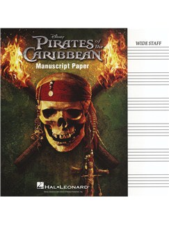 Pirates of the Caribbean Manuscript Paper - Wide Staff Books |