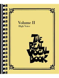The Real Vocal Book: Volume II (High Voice) Books | Melody Line, Lyrics & Chords
