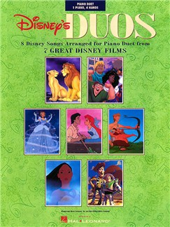 Disney's Duos: 8 Disney Songs Arranged For Piano Duet Books | Piano Duet