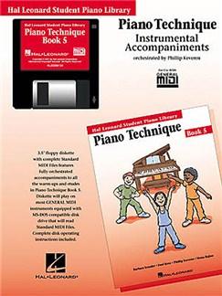 Hal Leonard Student Piano Library: Piano Technique Book 5 (GM Disk) CD-Roms / DVD-Roms | Piano