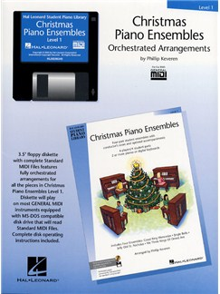 Hal Leonard Student Piano Library: Christmas Piano Ensembles Level 1 (GM Disk) CD-Roms / DVD-Roms | Piano
