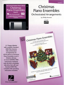 Hal Leonard Student Piano Library: Christmas Piano Ensembles Level 2 (GM Disk) CD-Roms / DVD-Roms | Piano