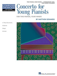 Composer Showcase: Matthew Edwards - Concerto For Young Pianists Books | Two Pianos