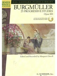 Friedrich Burgmuller: 25 Progressive Pieces (Book/Online Audio) Books and Digital Audio | Piano