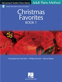Hal Leonard Student Piano Library: Adult Piano Method - Christmas Favorites Book 1 (Book/Online Audio) Books and Digital Audio | Piano