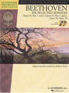 Ludwig Van Beethoven: Six Selected Sonatas Books and CDs | Piano