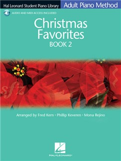 Hal Leonard Student Piano Library: Adult Piano Method - Christmas Favorites Book 2 (Book/Online Audio) Books and Digital Audio | Piano