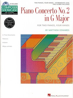 Matthew Edwards: Concerto No.2 In G For 2 Pianos, 4 Hands Books and CDs | Piano Duet