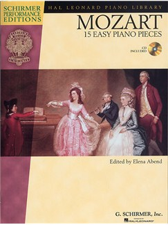 W.A. Mozart: 15 Easy Piano Pieces Books and CDs | Piano