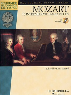 W.A. Mozart: 15 Intermediate Piano Pieces (Book/Online Audio) Books and Digital Audio | Piano