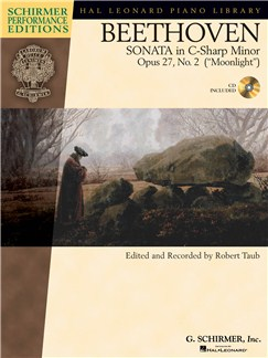 Beethoven: Sonata In C Sharp Minor Op.27 (Book/Online Audio) Books and Digital Audio | Piano