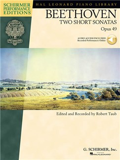 Beethoven: Two Short Sonatas Op.49 (Book/Online Audio) Books and Digital Audio | Piano