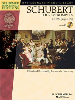 Franz Schubert: Four Impromptus D.899 Op.90 (Book/CD) Books and CDs | Piano