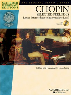 Frederic Chopin: Selected Preludes - Piano (Book/Online Audio) Books and Digital Audio | Piano