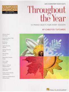 Christos Tsitsaros: Throughout The Year (Piano Duet) Books | Piano Duet