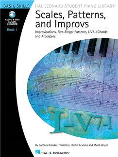 Scales, Patterns And Improvs - Book 1 (Book/Online Audio) Books and Digital Audio | Keyboard, Piano