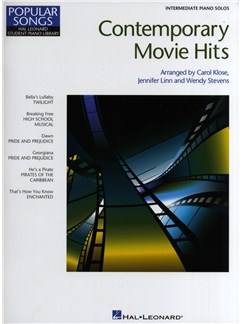 Contemporary Movie Hits: Intermediate Piano Solos Books | Piano