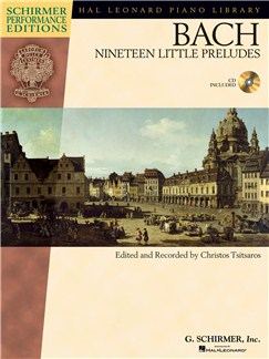 J.S. Bach: Nineteen Little Preludes (Schirmer Performance Edition) Books and CDs | Piano