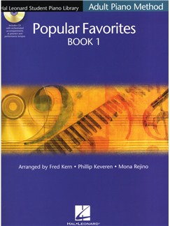 Hal Leonard Student Piano Library Adult Piano Method: Popular Favourites Book 1 Books and CDs   Piano