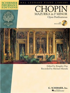 Frédéric Chopin: Mazurka in F minor Op. post. Books and CDs | Piano