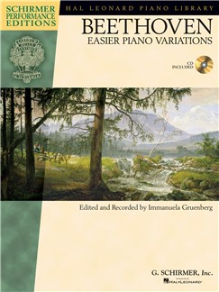 Ludwig van Beethoven: Easier Piano Variations (Schirmer Performance Edition) Books and CDs | Piano