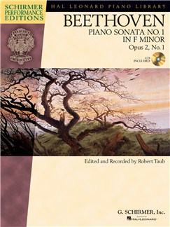 Ludwig Van Beethoven: Piano Sonata No.1 In F Minor Op.2 No.1 (Schirmer Performance Edition) Books and CDs | Piano