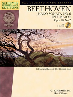 Ludwig Van Beethoven: Piano Sonata No.6 In F Op.10 No.2 (Schirmer Performance Edition) Books and CDs | Piano