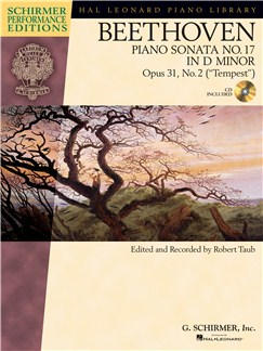 "Ludwig Van Beethoven: Piano Sonata No.17 In D Minor Op.31 No.2 ""Tempest"" (Schirmer Performance Edition) Books and CDs 