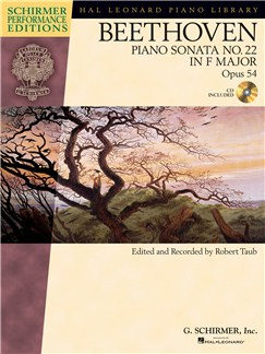 Ludwig Van Beethoven: Piano Sonata No.22 In F Op.54 (Schirmer Performance Edition) Books and CDs | Piano