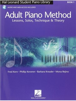 Hal Leonard Adult Piano Method: Book 1 - Lessons, Solos, Technique & Theory (Book/Online Audio) Books and Digital Audio | Piano