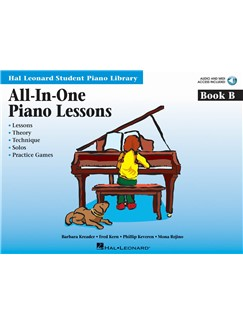 All-In-One Piano Lessons: Book B (Book/Online Audio) Books and Digital Audio | Piano